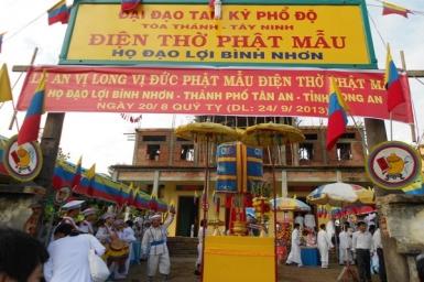 Long An: Lễ An Vị Long Vị Đức Phật Mẫu Họ đạo Lợi Bình Nhơn