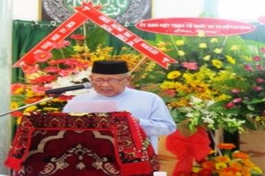 Diễn văn cảm tạ Đại lễ Maulid ngày sinh của Nabi Muhammad - Năm 1434.HL / 2013 DL