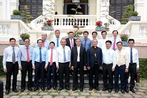 Phái đoàn Chính phủ đến Tòa Tổng Giám mục Sài Gòn (21.12.2019) chúc mừng Giáng Sinh